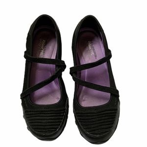 Sketchers Relaxed Fit Mary Janes Memory Foam Black